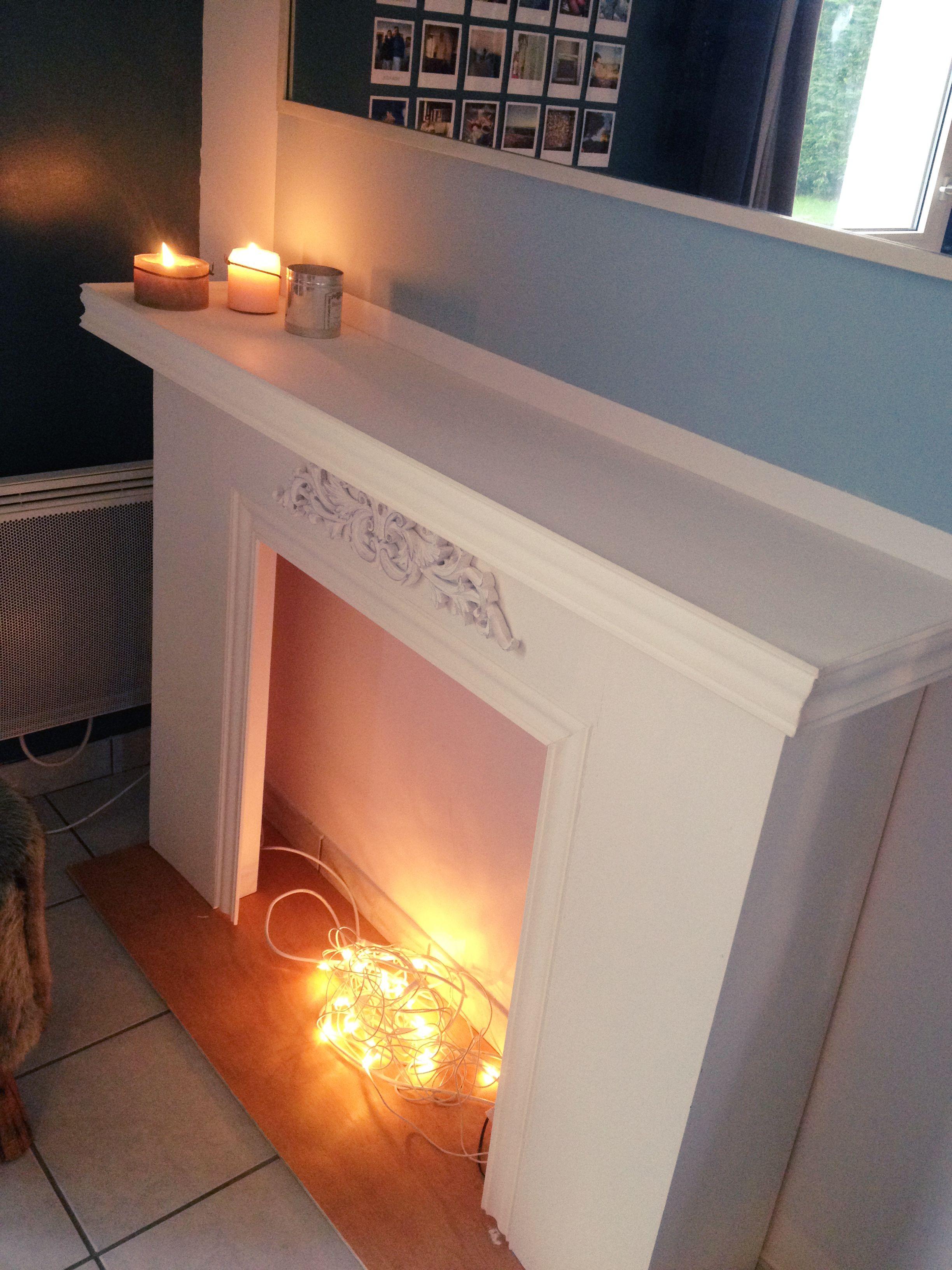 DIY fausse cheminée Navideño Pinterest Fake fireplace Mantle