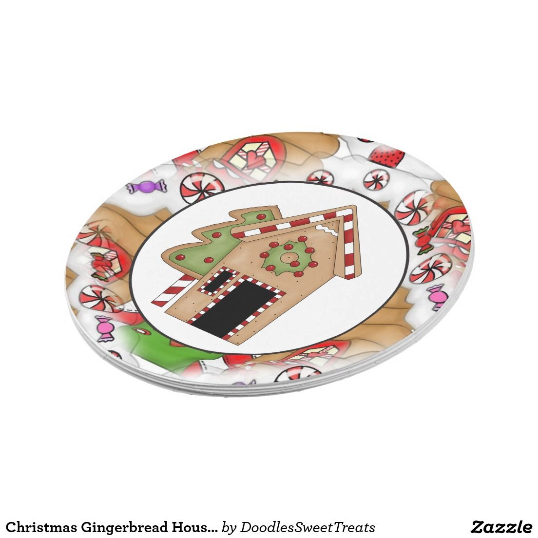 Christmas Gingerbread House party paper plate  sc 1 st  Pinterest & Christmas Gingerbread House party paper plate | Christmas Paper ...