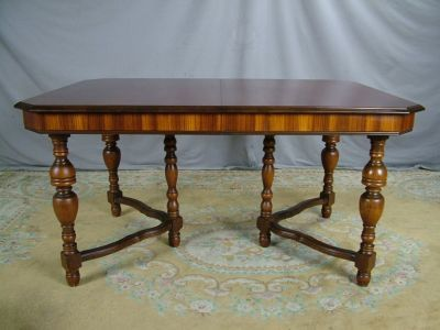Thomasville Dining Room Furniture On Antique 30s Gothic Jacobean Walnut  Dining Room Table Nr Completed