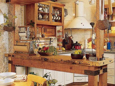 Decoración de cocinas rústicas o campestres  SeMujer - embarazo