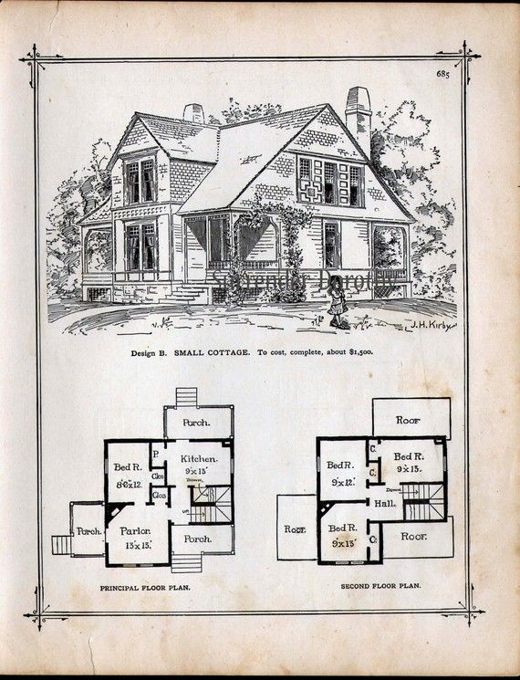 Small Cottage House Plans 1881 Antique Victorian Architecture Etsy Victorian House Plans Vintage House Plans Small Cottage House Plans