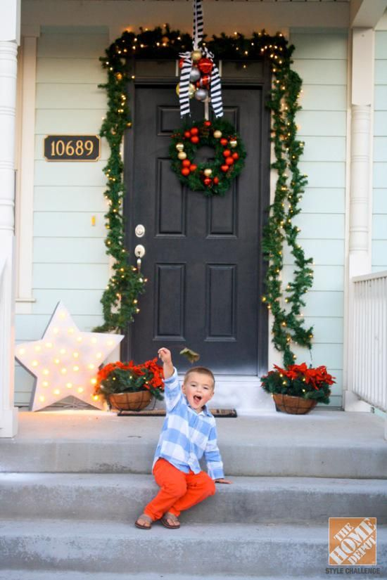 Holiday Decorating Ideas for the Front Door The front, Holiday