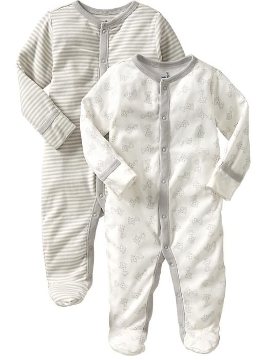 8975cba9ad5a Little Bundles Footed One-Piece 2-Packs for Baby 19.94