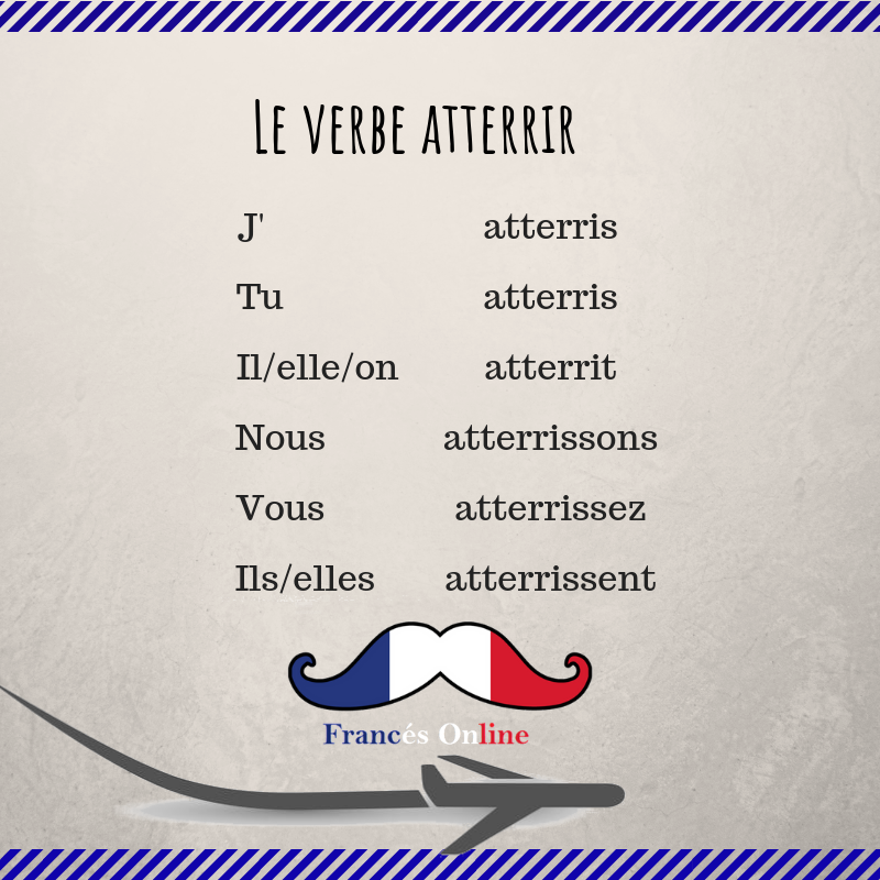Le Verbe Atterrir Learn French French Language Lessons French Phrases