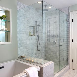 Free Standing Tub Next To Shower Design Ideas, Pictures, Remodel And Decor
