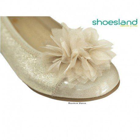 274d0b4e Bailarinas niña piel dorada brillante charol kaffir flor andanines in 2019  | zapatos para niña | Charol, Zapatos para niñas, Color dorado