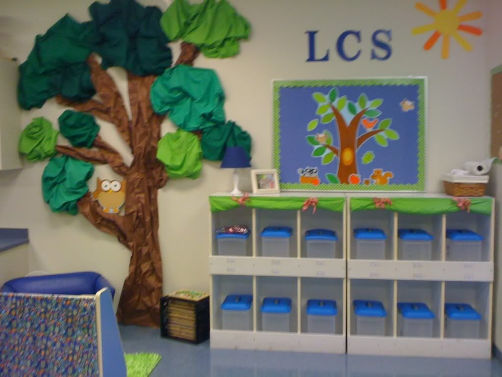 Forest Themed Classroom Decorations ~ Cubbies and my tree reception classroom ideas