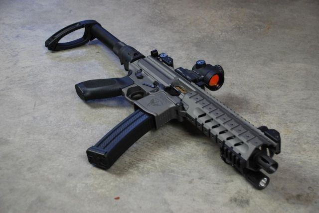MPX pistol with Tail-hook pistol brace | Pistols | Guns