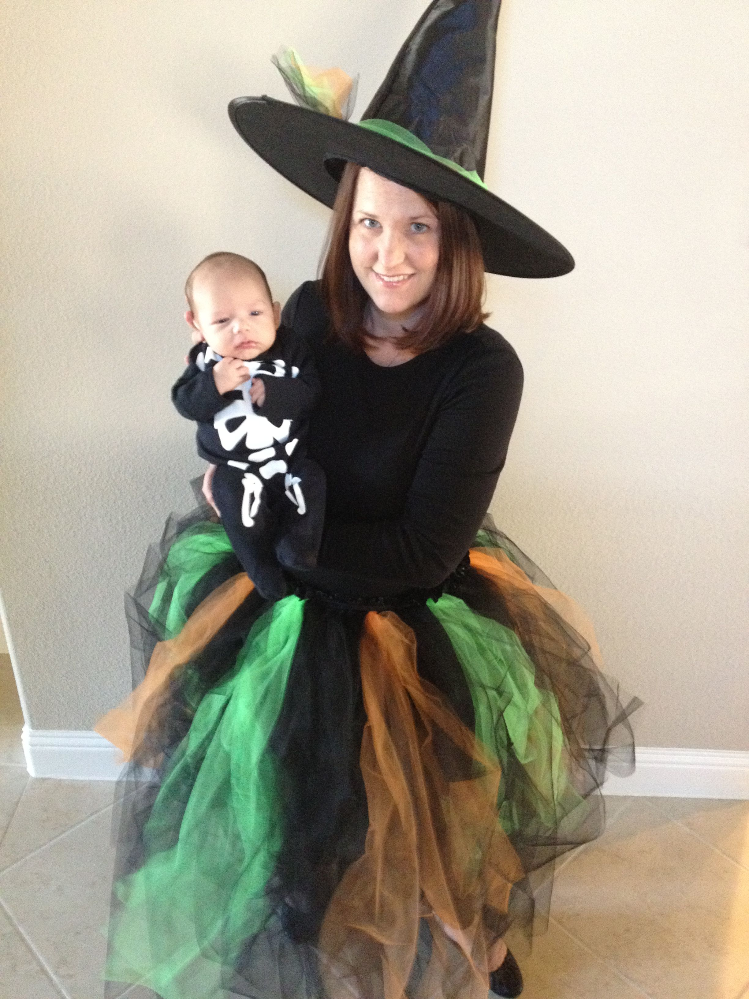 My DIY homemade witch costume. Love it! #witch #costume #tutu ...