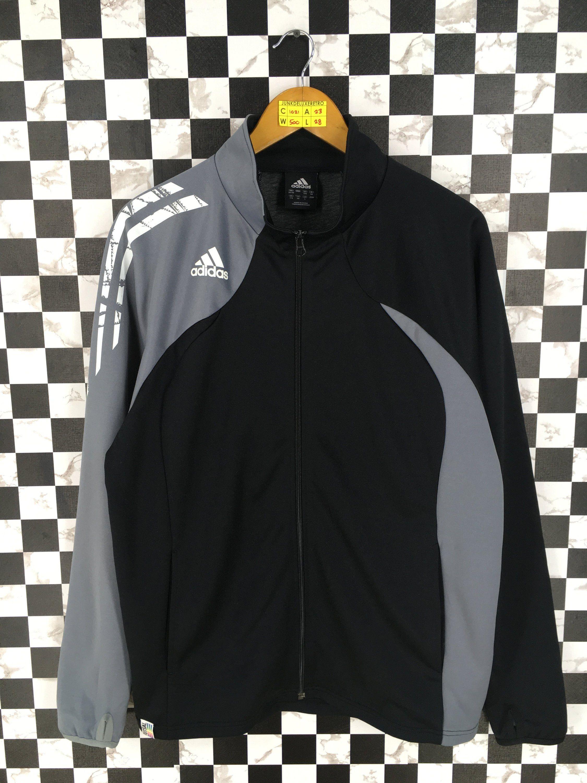 9973f1c264399 Vintage ADIDAS EQUIPMENT Track Jacket Black/Gray Large 90s Adidas ...