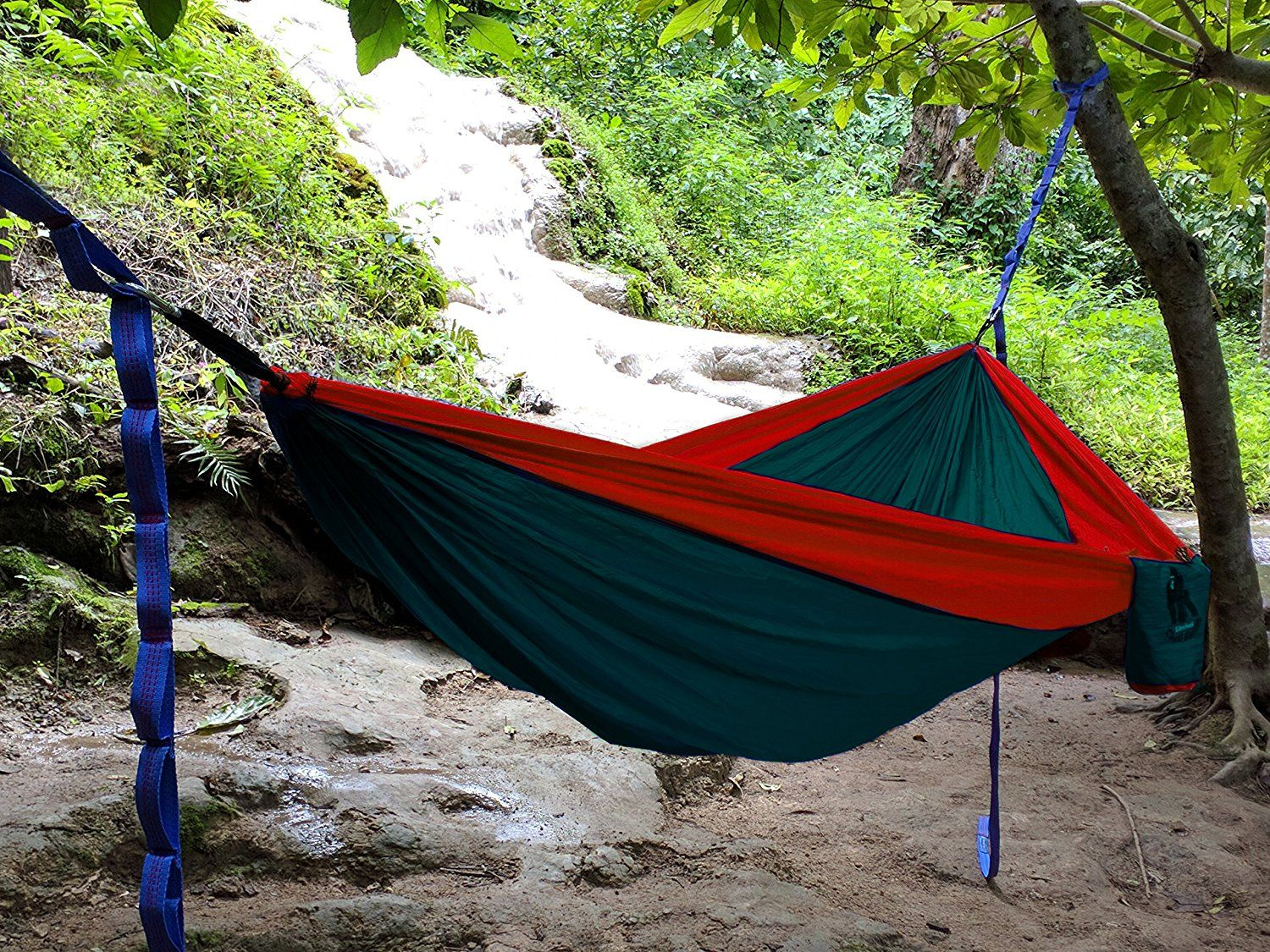 amazon    chill gorilla pro luxury double camping hammock with tree straps  green amazon    chill gorilla pro luxury double camping hammock with      rh   pinterest