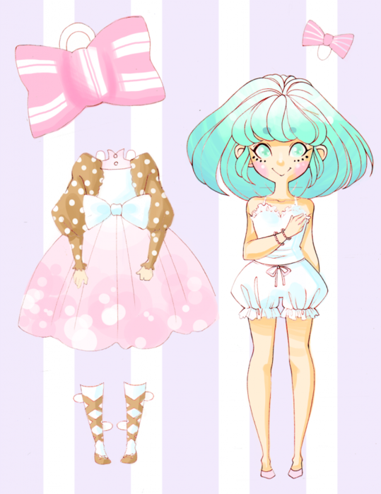 Аниме картинки бумажных кукол