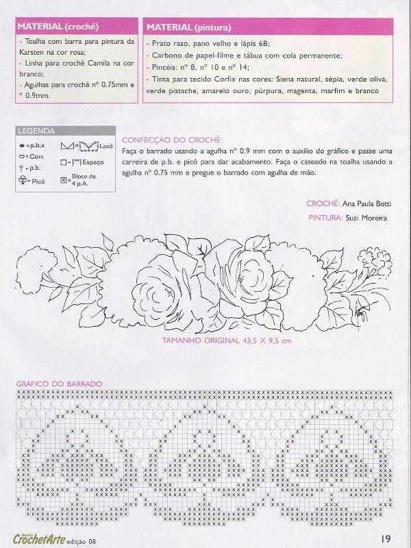 Crochet art -Pintura e crochê - Dina Gomes - Álbuns da web do Picasa