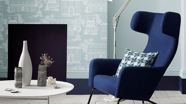 peinture 21 teintes de bleu chez little greene deco bo. Black Bedroom Furniture Sets. Home Design Ideas