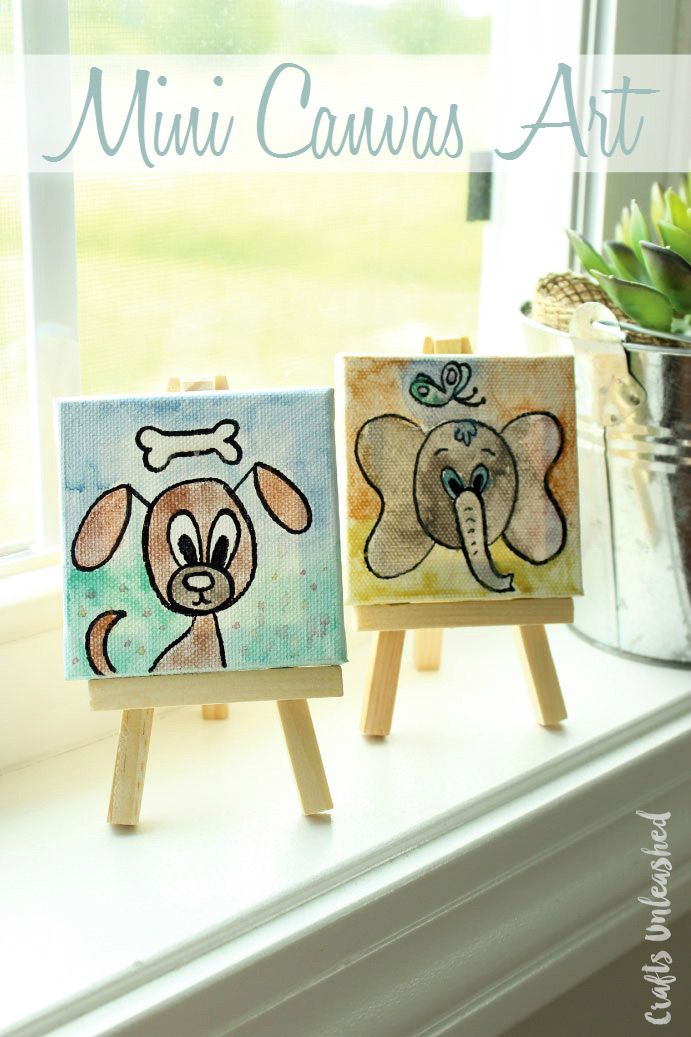 Mini Canvas Ideas For Kids Craft Tutorial