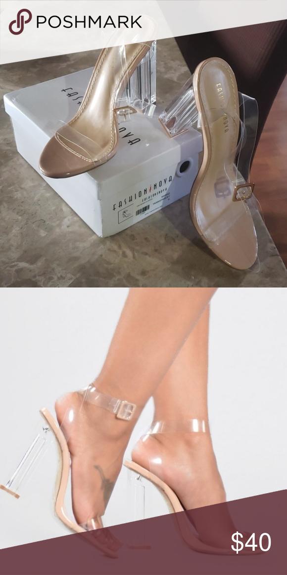 98198746d4c Glass Slipper Transparent Nude glass slipper Fashion Nova Shoes ...