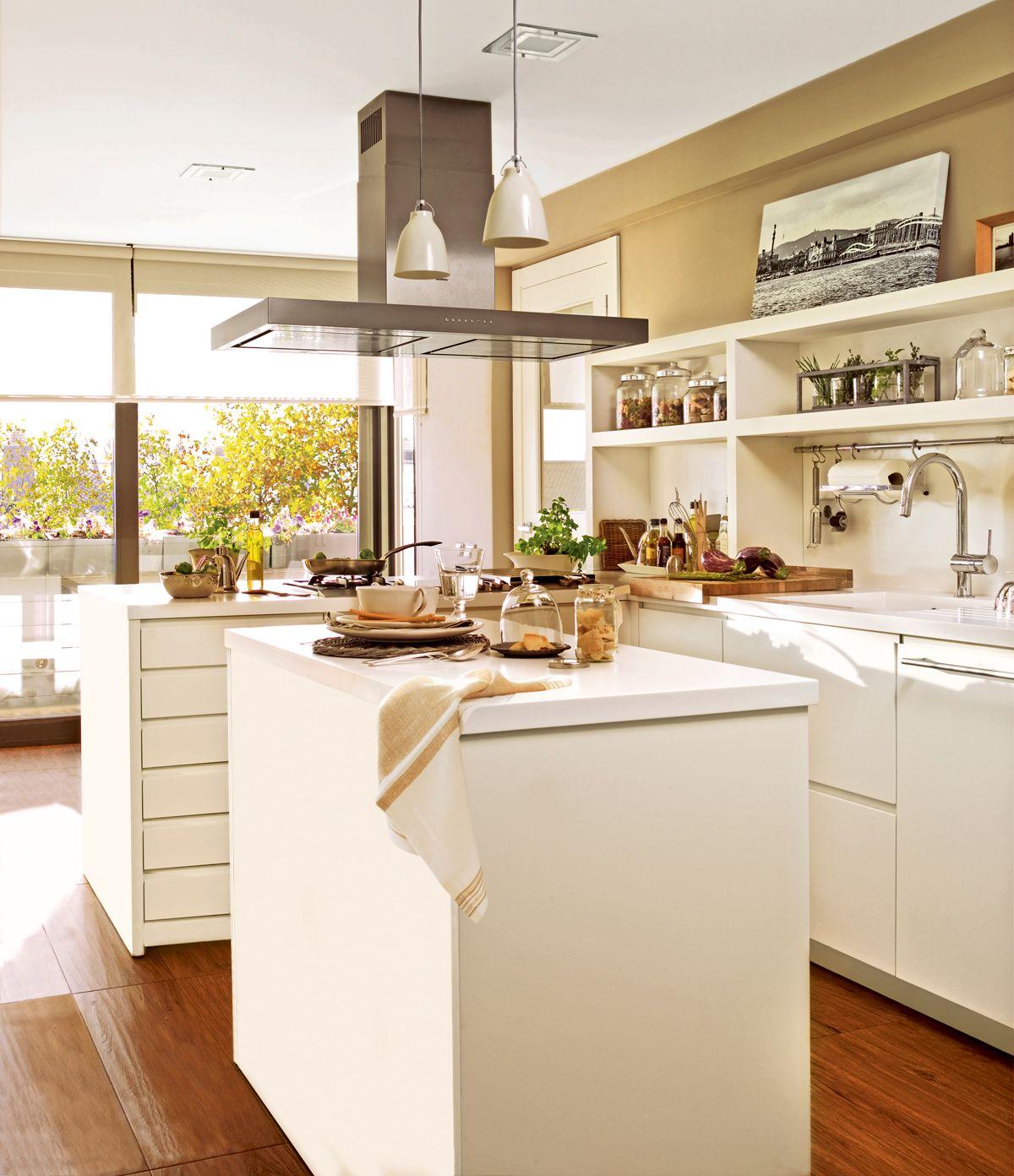 Interior Inspiration 12 Kitchens With Color: Cocinas, Lámparas Cocina, Islas