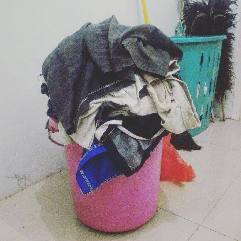 Parah Cucian Sampe Menggunung Gini Laundry In Aja Free Pick