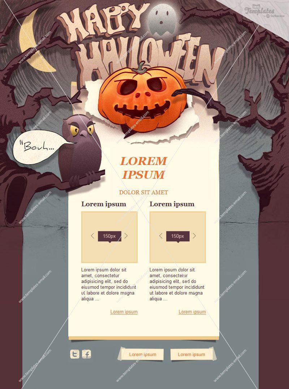 Plantilla newsletter HTML para Halloween. Descubre estas y más ...