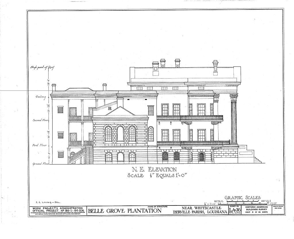 Best Kitchen Gallery: Belle Grove Plantation Mansion White Castle Louisiana Northeast of Louisiana Plantation Home Plans on rachelxblog.com