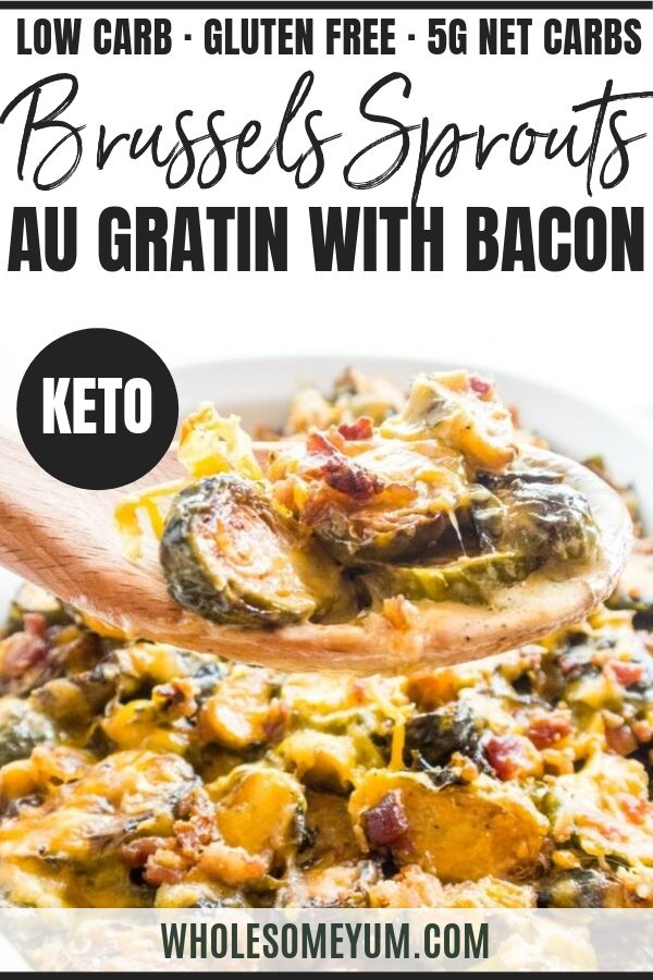 Keto Brussels Sprouts Casserole Recipe With Bacon | Wholesome Yum