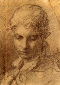 Portrait of a young lady by Helene Sofia Schjerfbeck