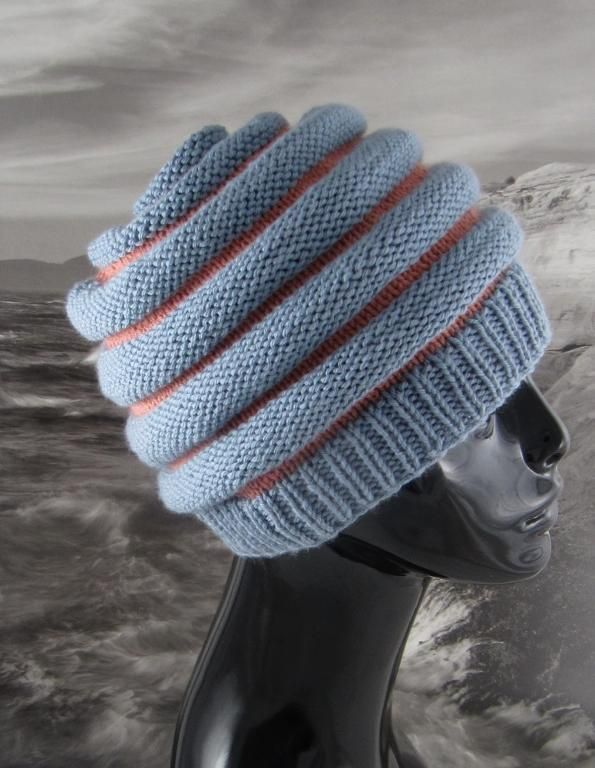 Stripe Beehive Hat Knitting Pattern Knitting Hats Pinterest