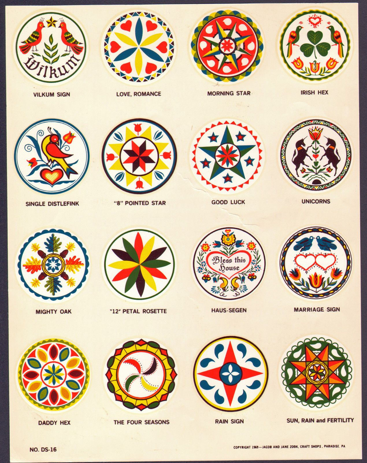 """All Made In The USA 24/"""" Irish Hex Sign Zook/'s Design Design Made in PA U.S.A"""