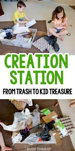 Make a Creation Station Sensory Bin #toddler # ...