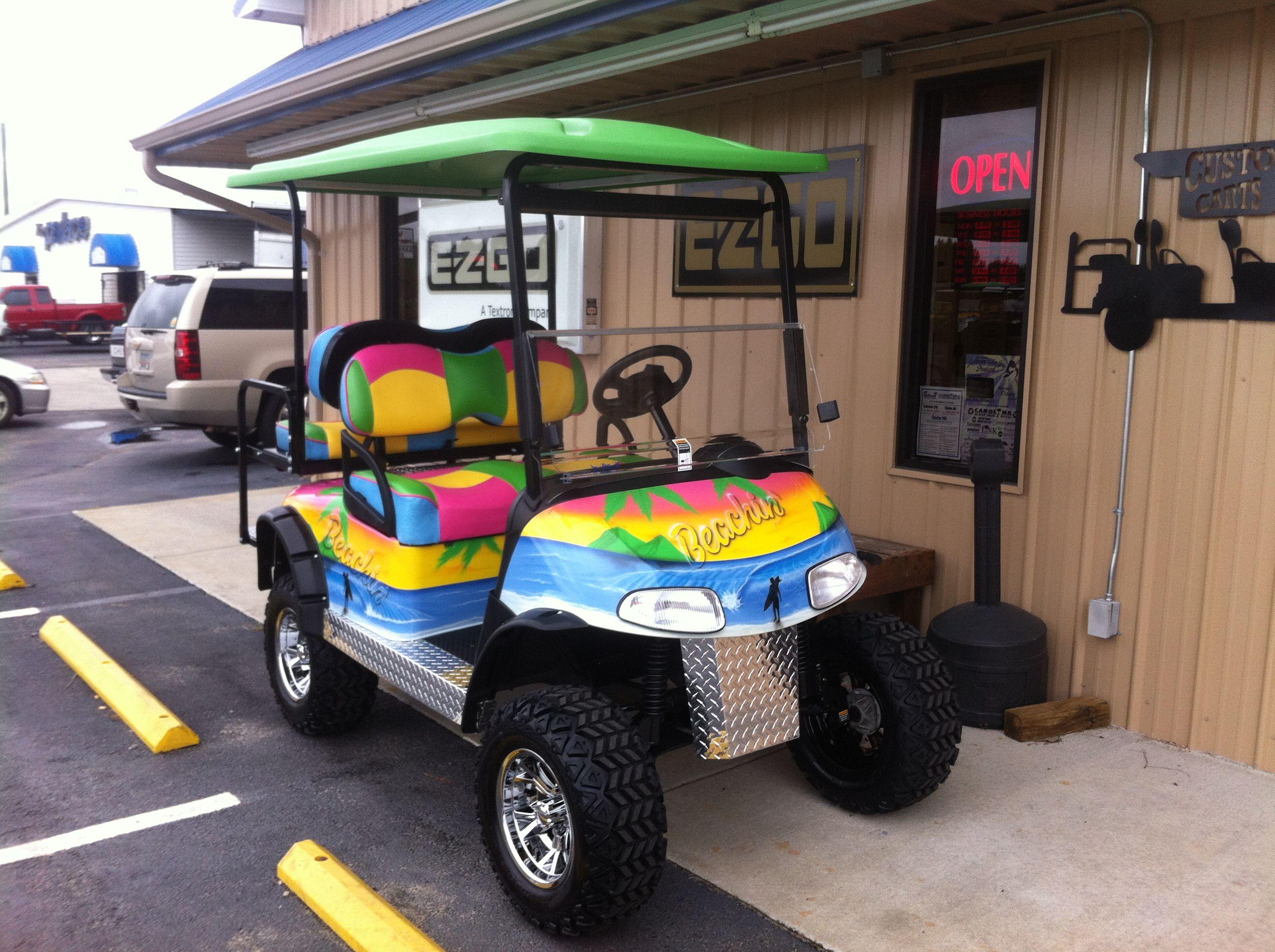 12++ Beach themed golf cart viral