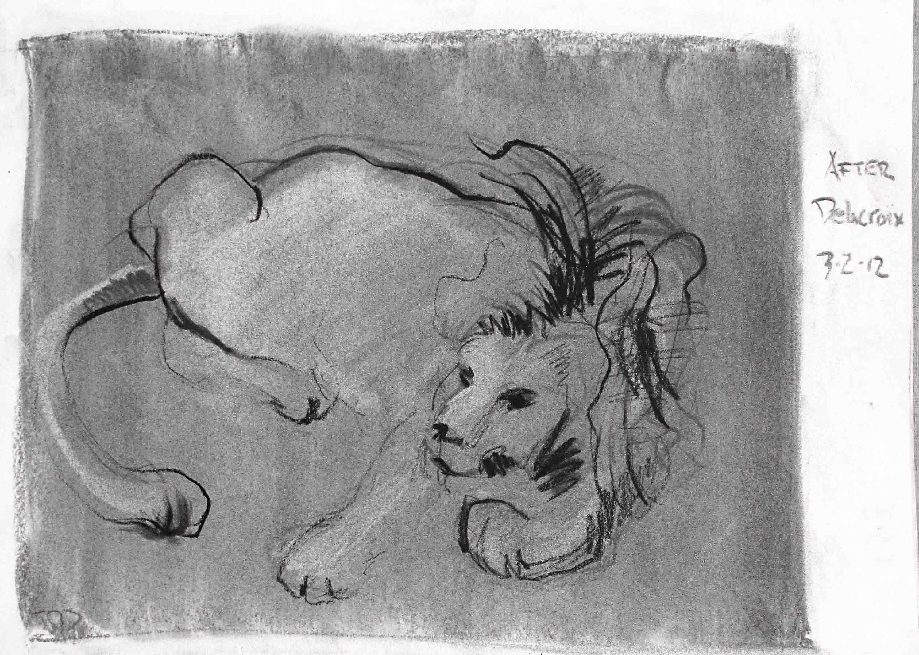 Tim Dayhuff - drawings - after Delacroix