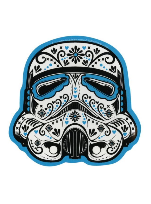 The Stormtrooper Mask Is Given A Day Of The Dead Makeover On This Sticker Star Wars Sugar Skull Star Wars Stickers Star Wars Art