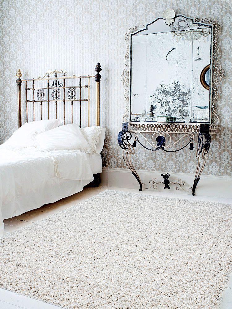 Teppich gezeichnet  benuta Hochflor Shaggy Teppich Swirls beige / benuta Shaggy Rug ...