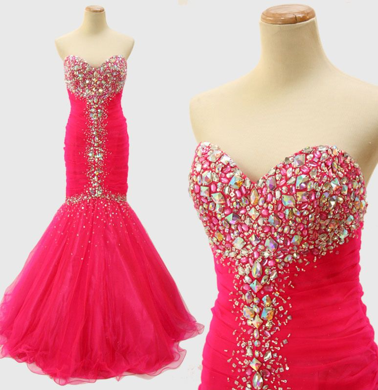 JOVANI 171174 Hot Pink $500 Prom Dress Evening Pageant Gown -BRAND ...