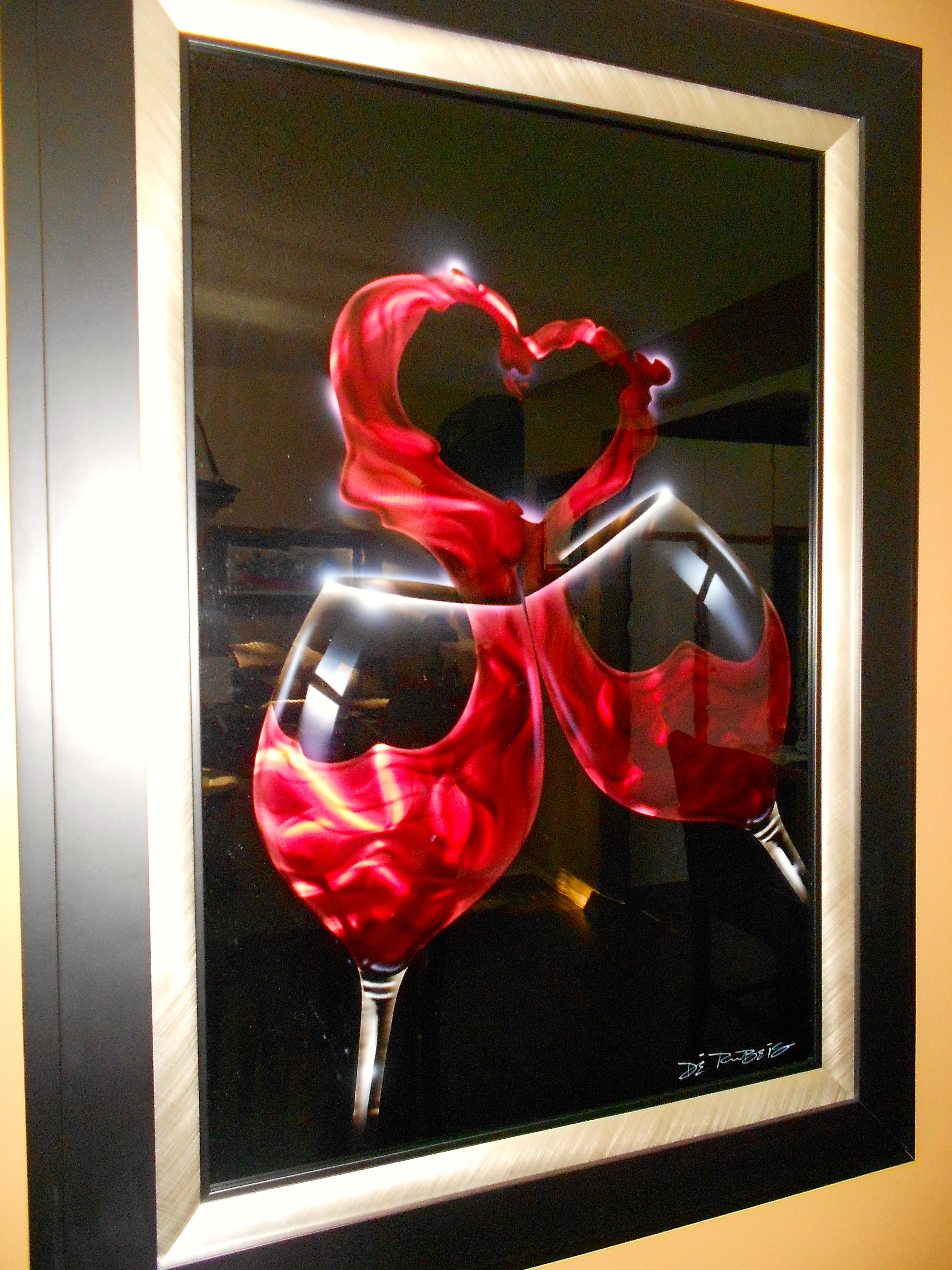Its Called I Love Wine Appropriate For Me Lol By Chris De Rubeis Art Valentines My Love