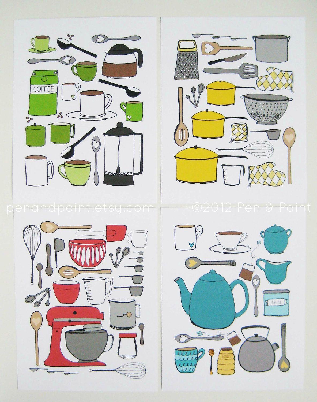 CHOOSE your color Kitchen Art Kitchen Decor Baking Mixer I