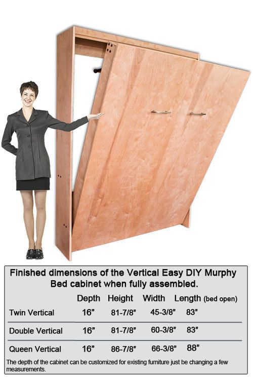 Murphy Wall Bed Hardware Construction Kit Twin Double Or
