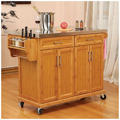 Bamboo Stainless Steel Top Kitchen Cart At Big Lots. We Already Have This  And Love