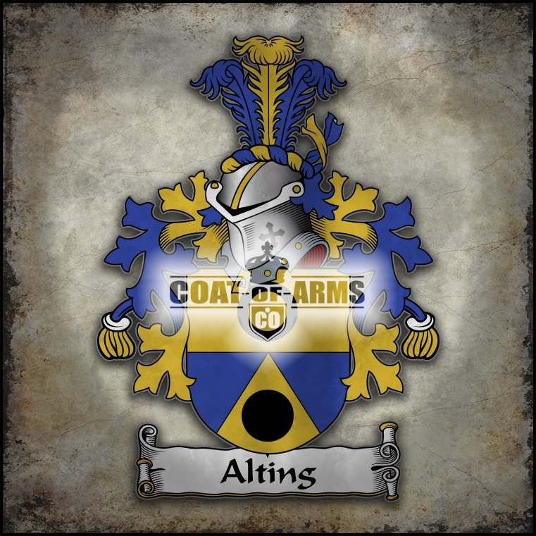 Alting Family Crest - Dutch Coat of Arms