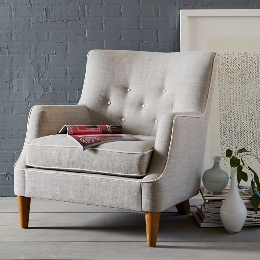 West Elm Chair Too Expensive But Good Idea We Love The Contrasting Welt And Buttons The