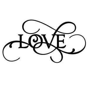 Download Flourish word - love | blanco y negro | Estampas, Desenhos ...