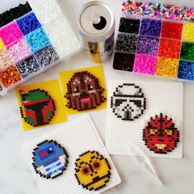 Star Wars Christmas ornaments perler beads by greybear_