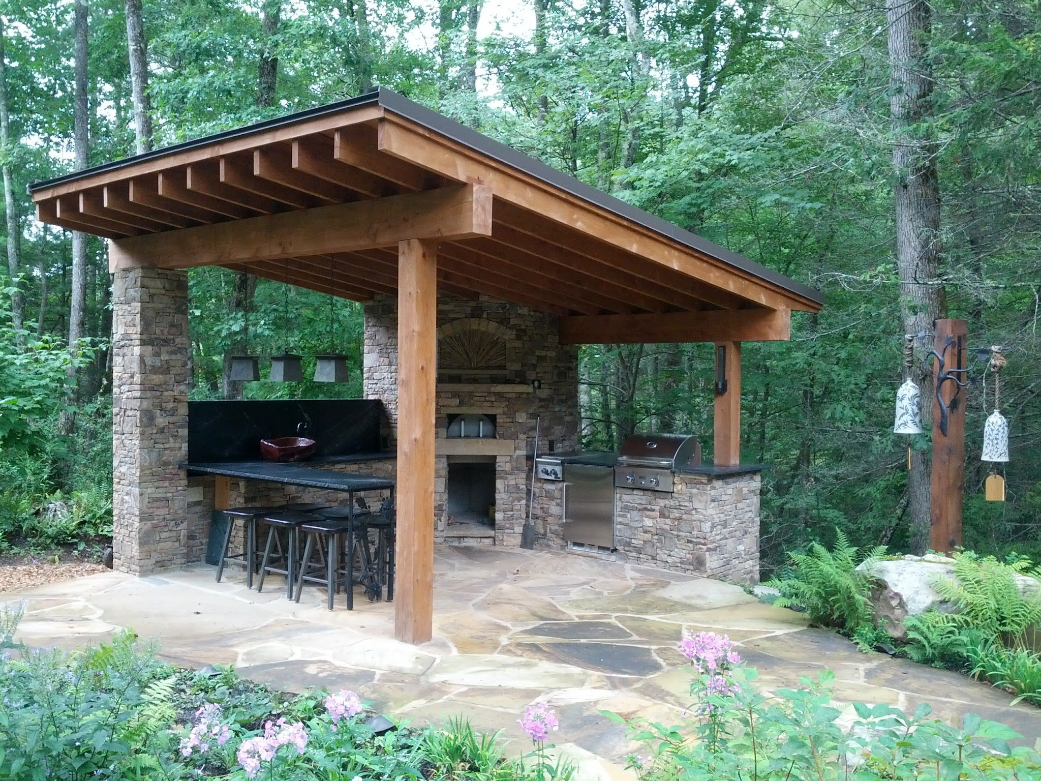 Outdoor Pizza Kitchen In The Mountains