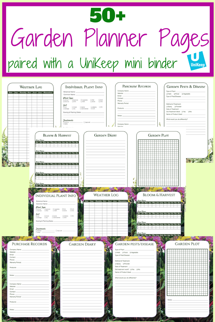 Free Gardening Journal Template Pages Garden Journal Journal Template Gardening Blog