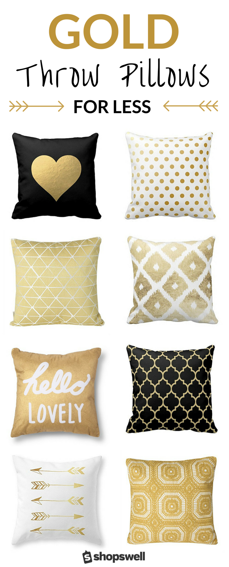 Cheap Decorative Pillows Under $10 Delectable The Midas Touch 20 Fabulously Affordable Gold Throw Pillows 2018