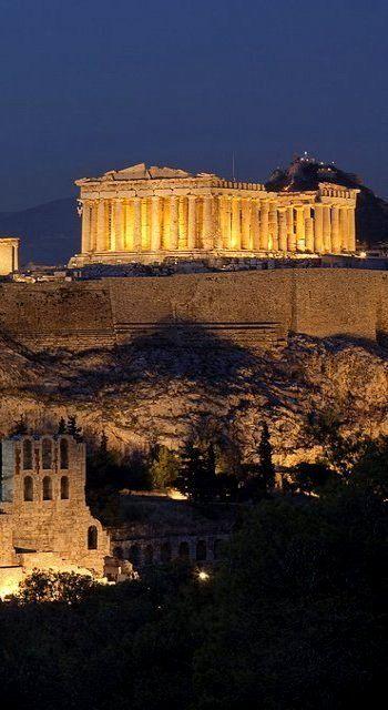 Parthenon at Night.. Acropolis - Athens, Greece | G in ...