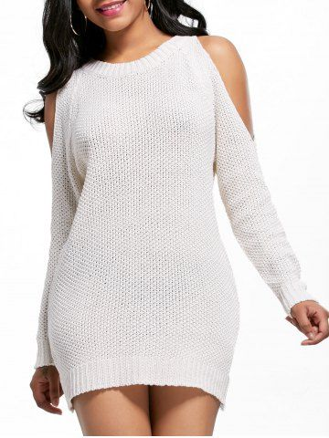 Open Shoulder Tunic Sweater Dress | Tunic sweater, Tunics and Shoulder