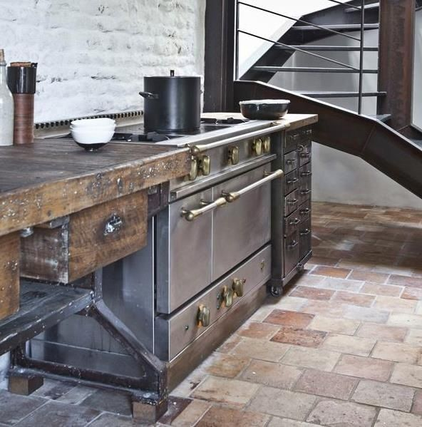 Grey Industrial Kitchen: Pin By Wells & Fox On Interiors & Architecture