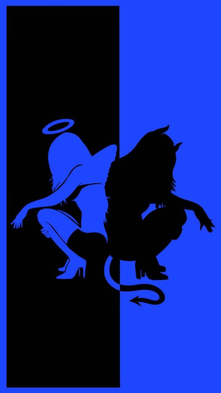 Devil & angel blue wallpaper by Kor4@rts archive - 7d97 - Free on ZEDGE™