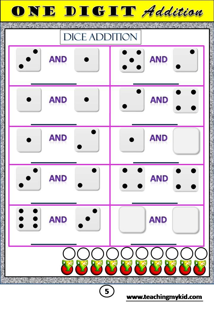mathematics worksheets First Grade Math Unit 3 ADDITION